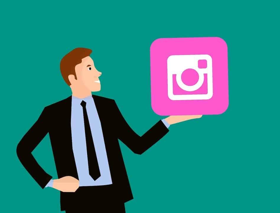 instagram logo with human